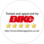 Tested and approved by Bike Magazine