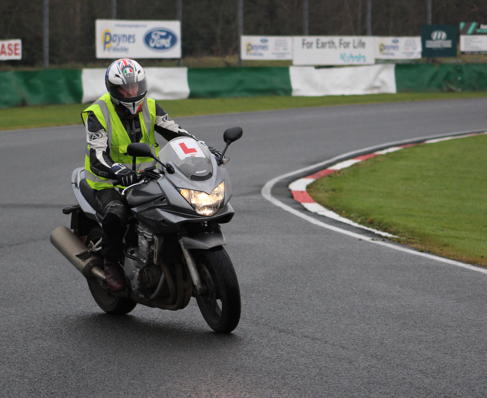 Motorcycle test at Malloy Park, Leicester