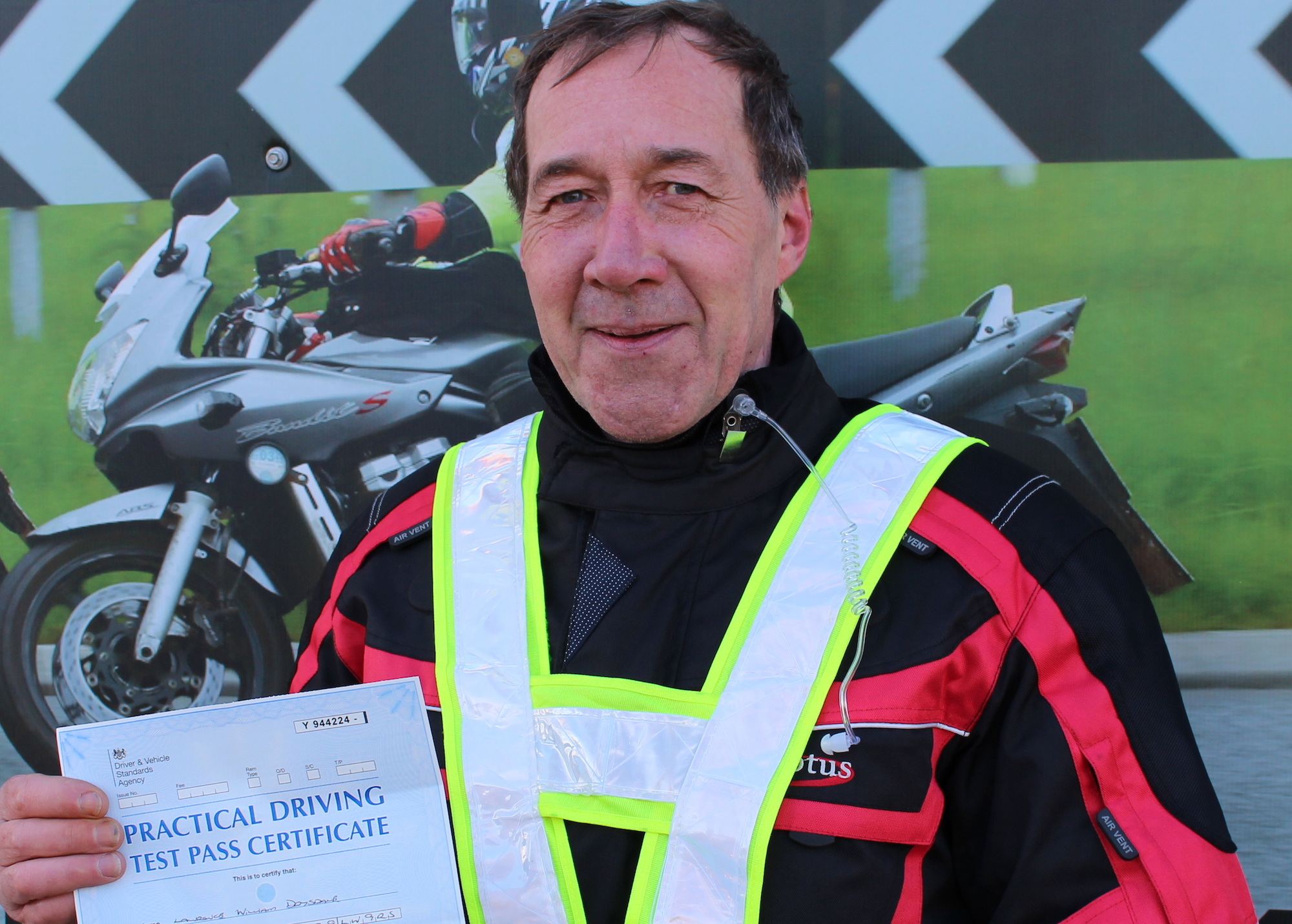 motorcycle test pass in Leicester