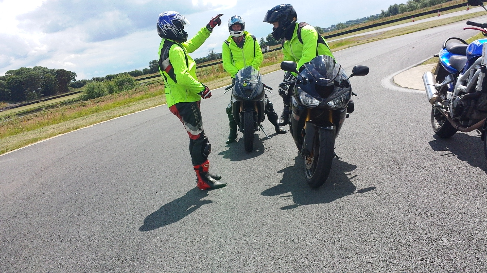 Motorbike instruction for test