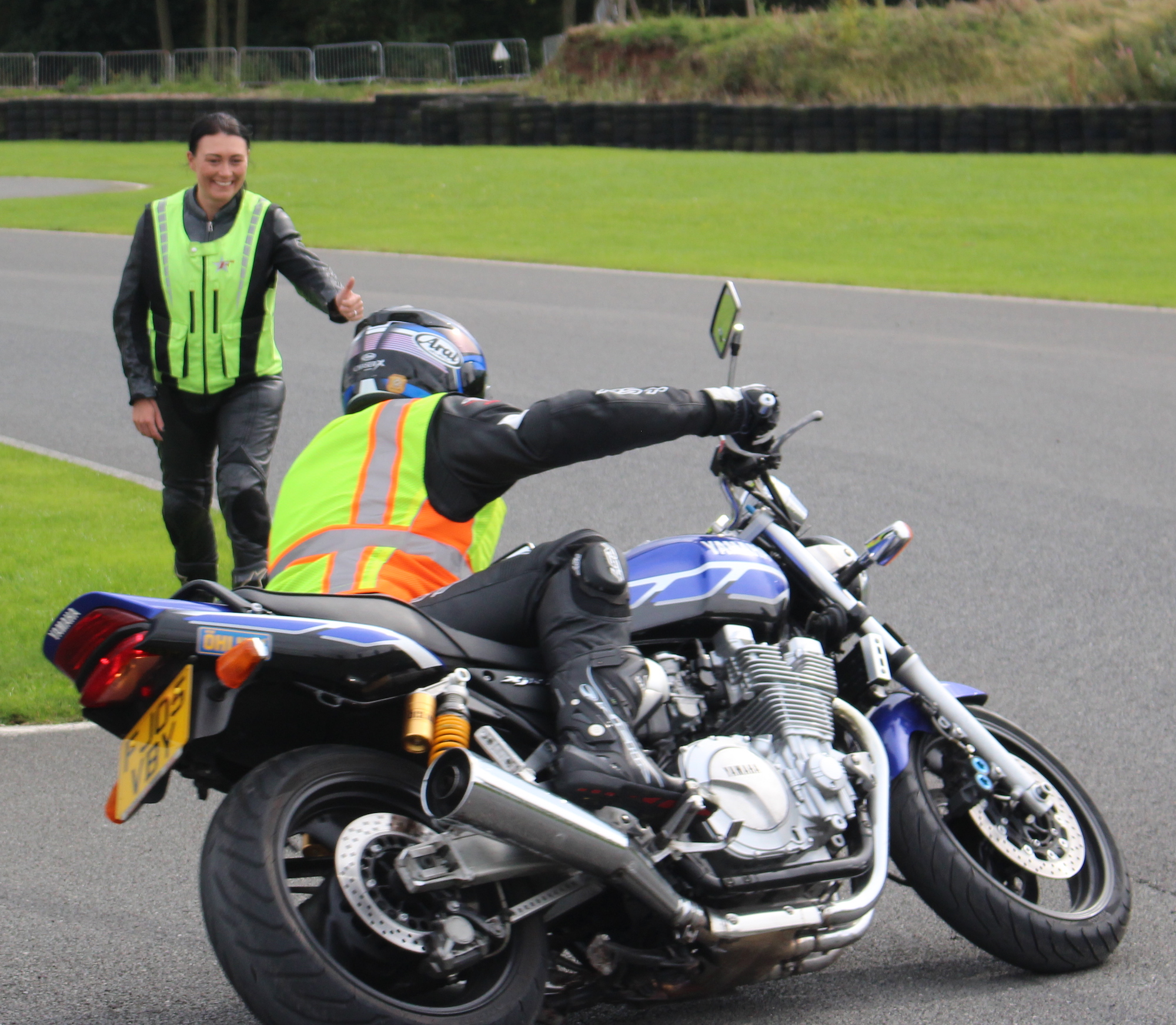 Knee down advanced motorcycle course