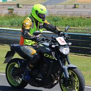 Motorcycle training at Mallory Park
