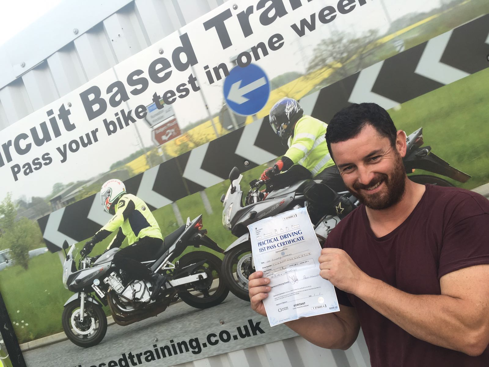 Motorcycle test in Leicester