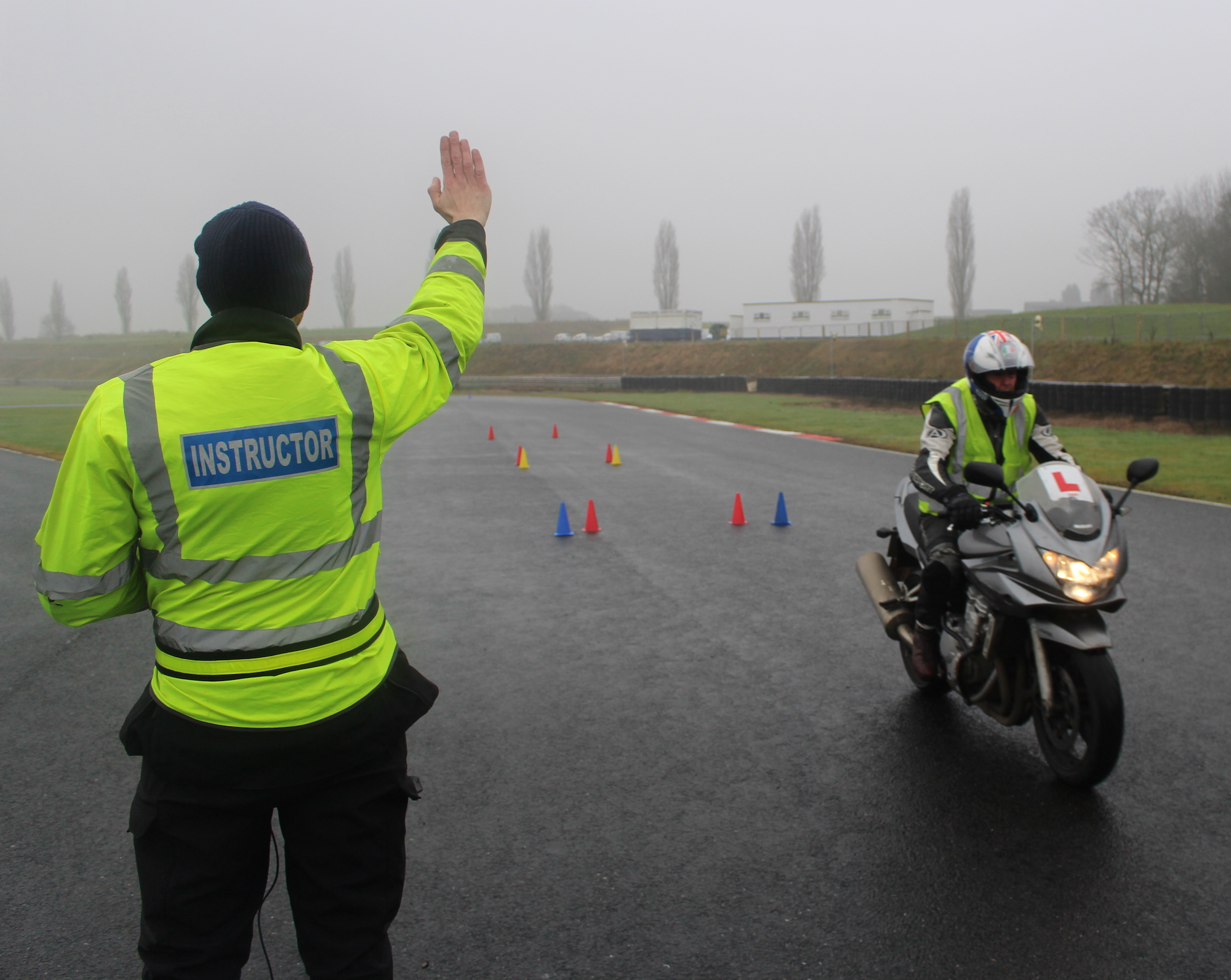 motorbike test in London, Milton Keynes